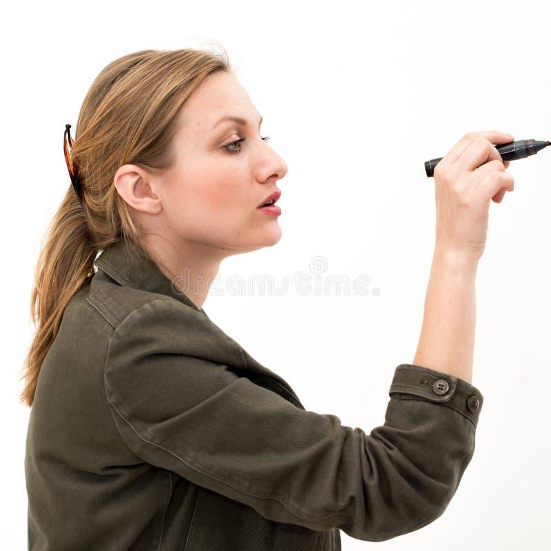 Download Junge Frau mit Feder stockbild. Bild von darstellung - 26370573