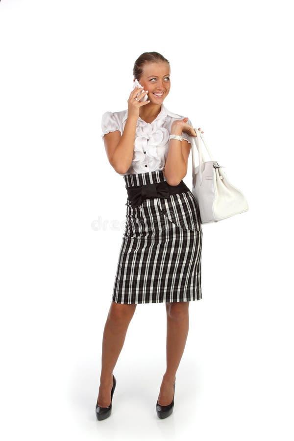 Junge Frau mit Handy. lizenzfreies stockfoto