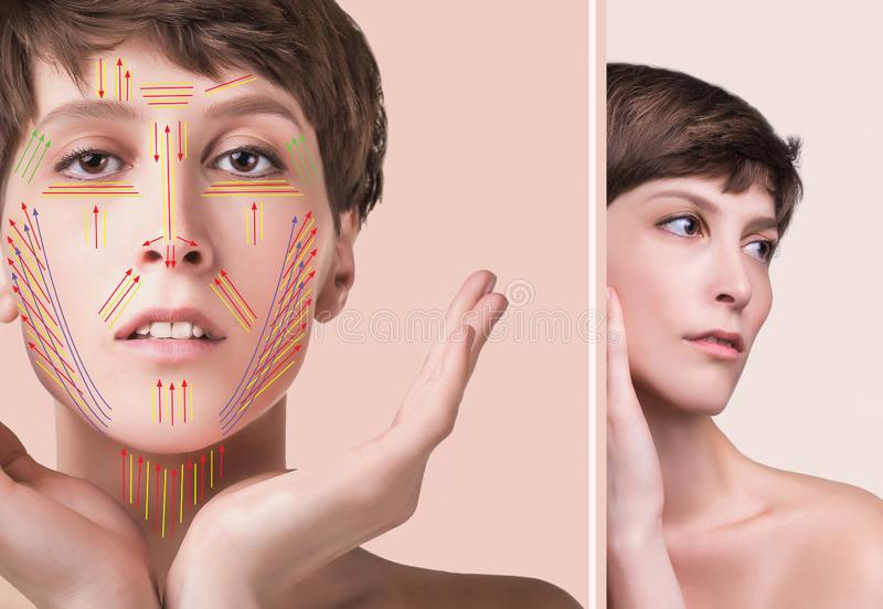 Junge Frau mit sauberer frischer Haut lizenzfreies stockbild