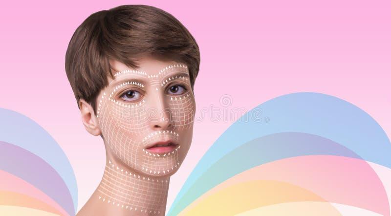 Junge Frau mit sauberer frischer Haut lizenzfreie stockfotografie