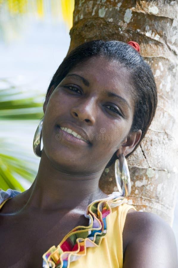 Junge Frau Nicaragua des Eingeborenen recht lizenzfreies stockfoto