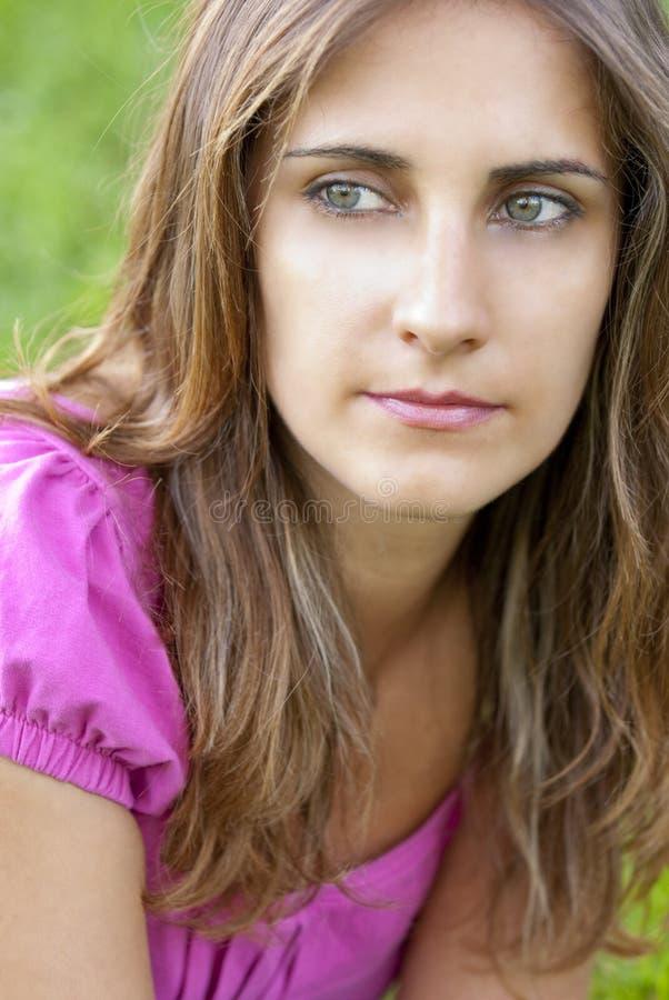 Junge Frau Portrait stockbilder