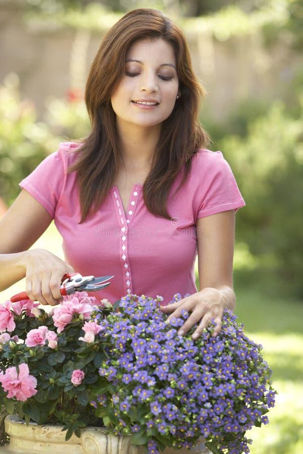 Junge Frauen-Gartenarbeit lizenzfreies stockfoto