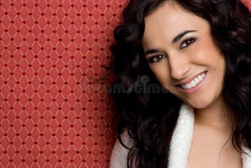 Junge Frauen-Lächeln stockfotografie