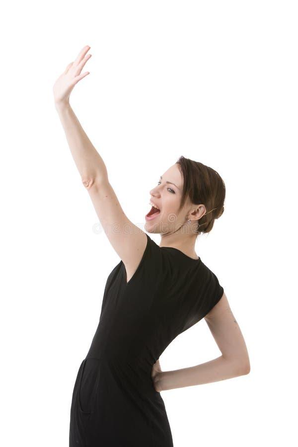 Junge freuende Frau lizenzfreies stockfoto