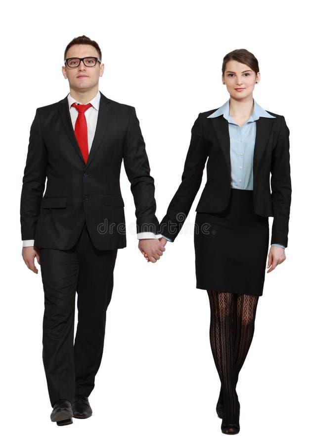Junge Geschäfts-Paare Stockbilder