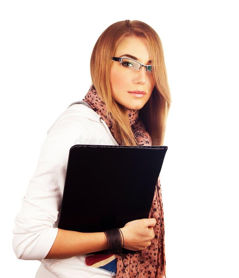 Download Junge Geschäftsfrau stockbild. Bild von frau, portrait - 26370161