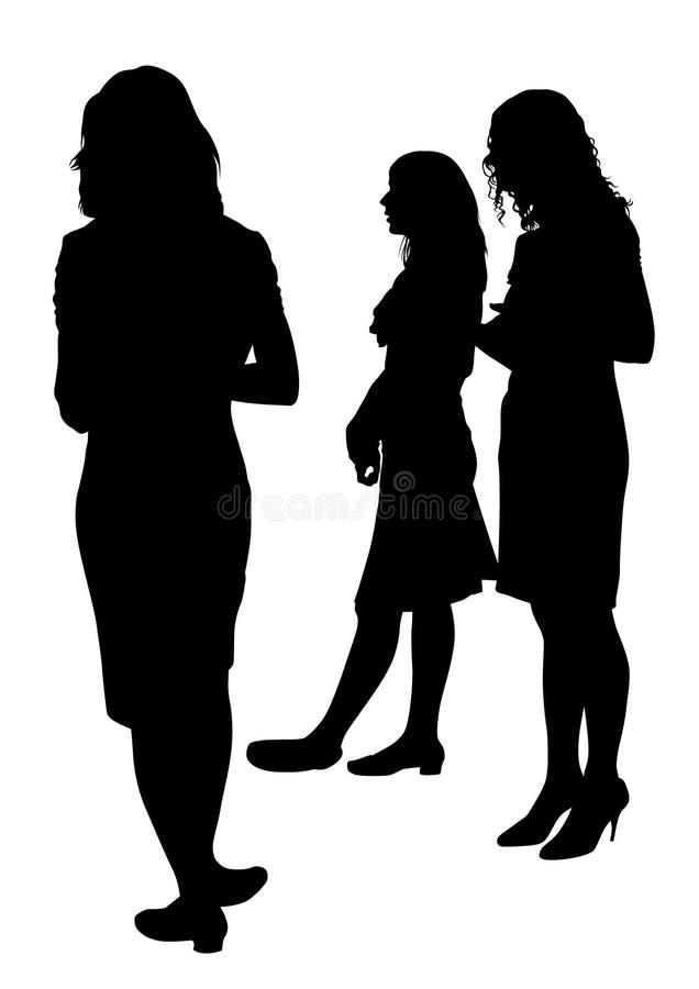 Junge Geschäftsfrau eine vektor abbildung
