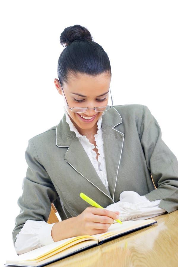 Junge Geschäftsfrau-/Lehrerfunktion stockbilder