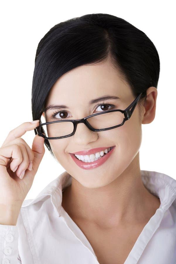Download Junge Geschäftsfrau Oder Kursteilnehmer In Der Eleganten Kleidung Stockfoto - Bild von büro, leute: 27729674