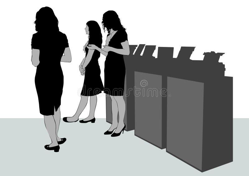 Junge Geschäftsfrau vier vektor abbildung