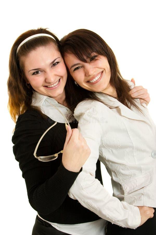 Junge Geschäftsfrauen und junge Geschäftsmänner