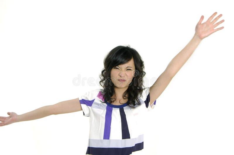 Junge glückliche Frau stockfoto