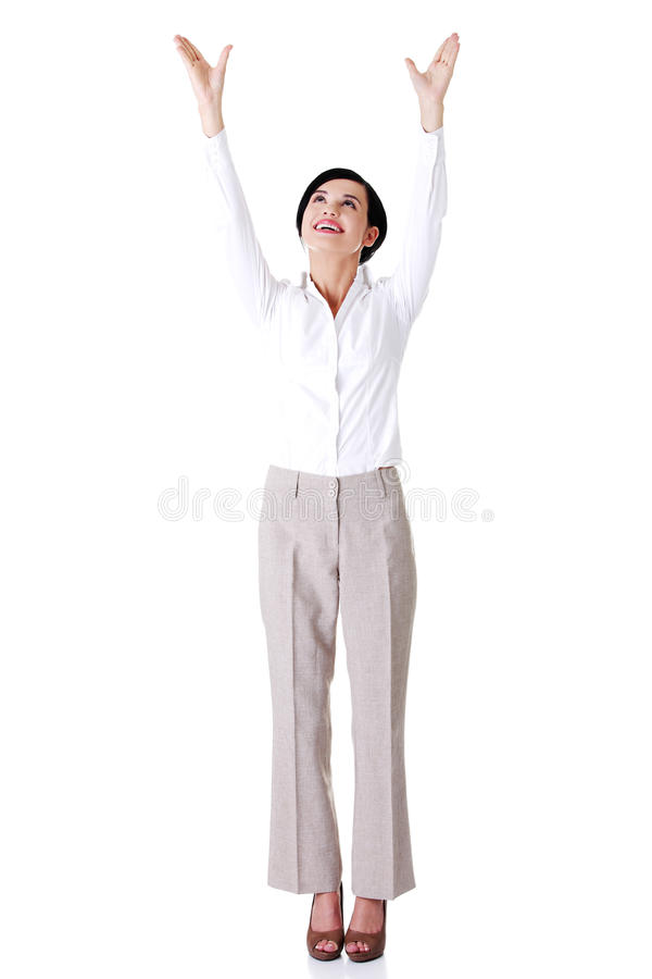 Download Junge Glückliche Geschäftsfrau Stockbild - Bild von glücklich, frisch: 27729595