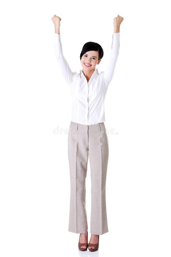 Download Junge Glückliche Geschäftsfrau Stockbild - Bild von überzeugt, elegant: 27729597
