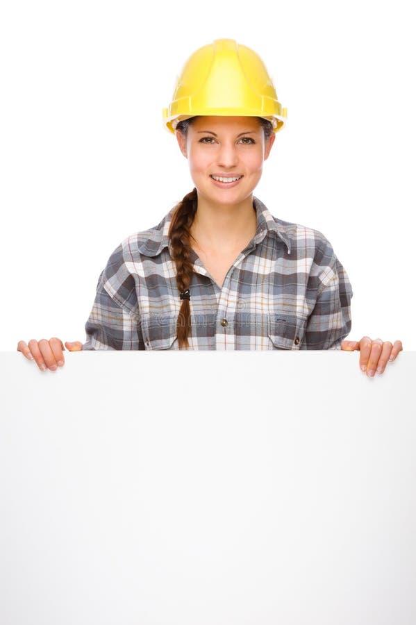 Junge Handwerkerin lizenzfreies stockfoto