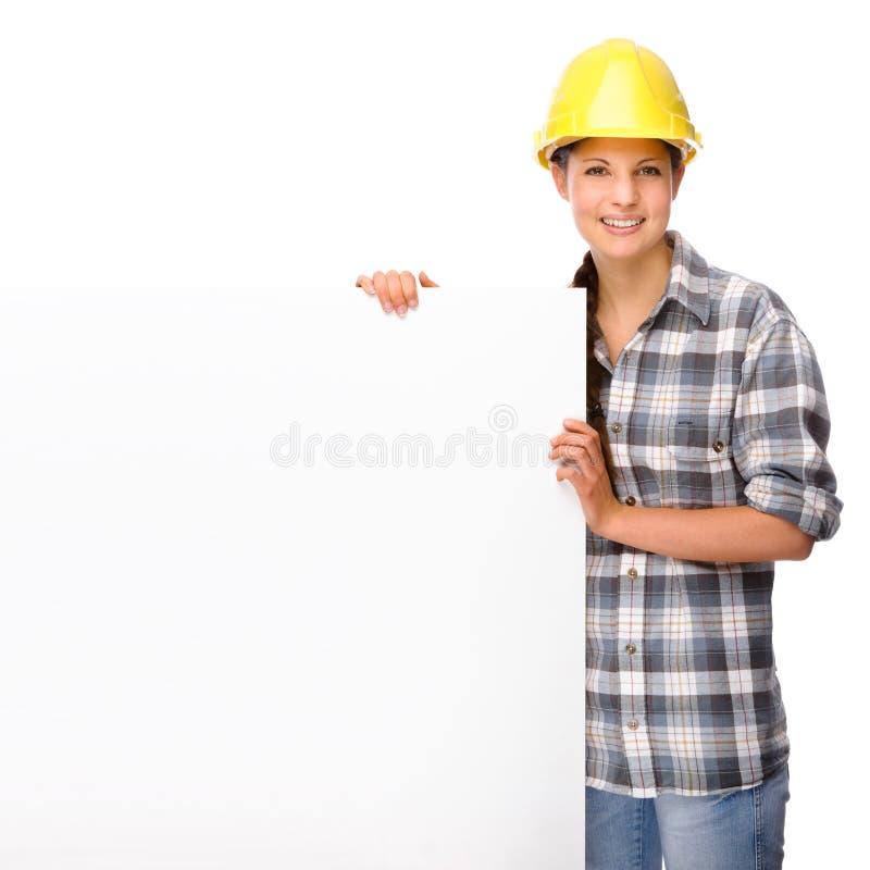 Junge Handwerkerin lizenzfreies stockbild