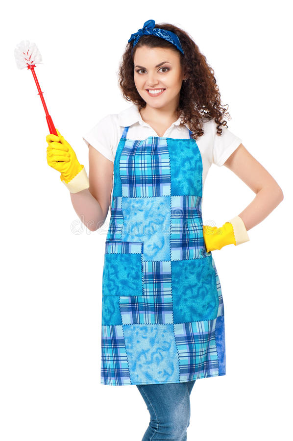 Junge Hausfrau lizenzfreie stockfotografie
