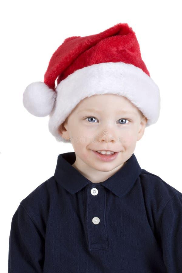 Junge im Sankt-Hut stockfotos