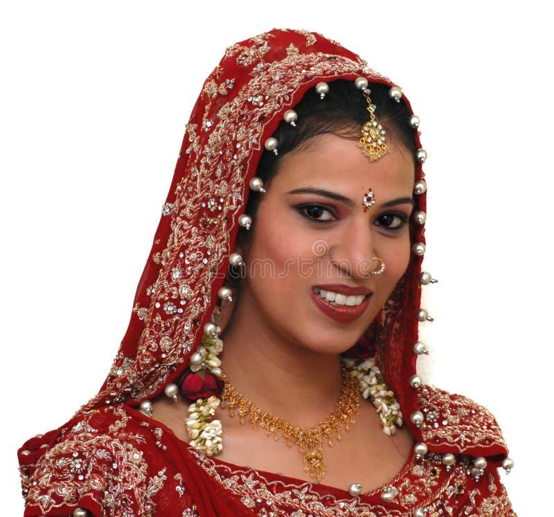 Junge indische Braut lizenzfreies stockbild