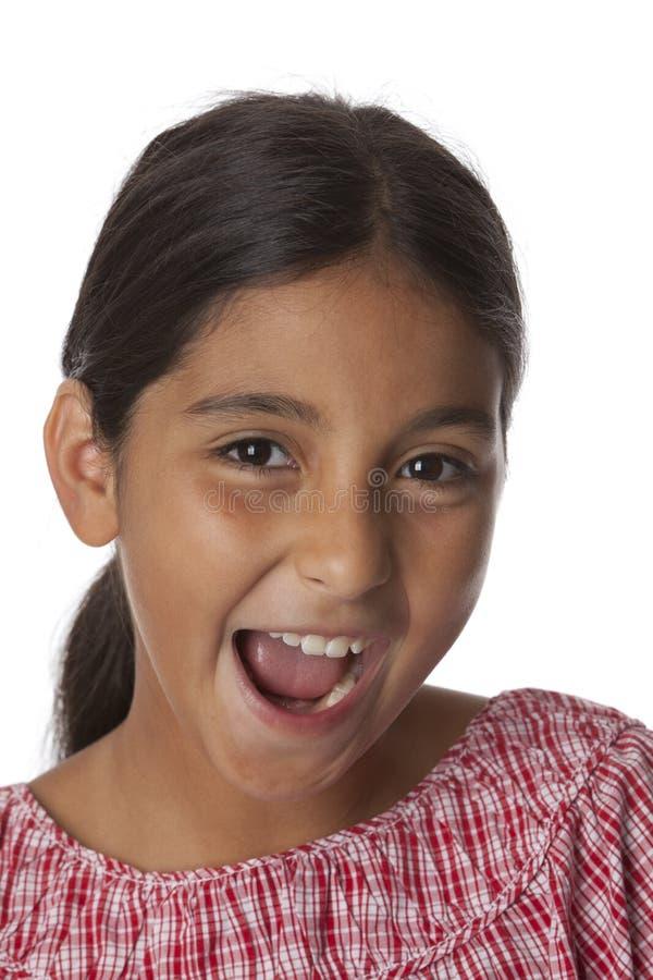 Junge Jugendliche, die Spaß macht lizenzfreie stockbilder