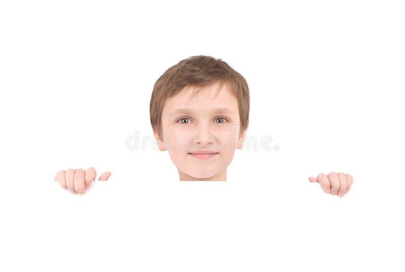 Junge Jungenholdingfahne stockbilder