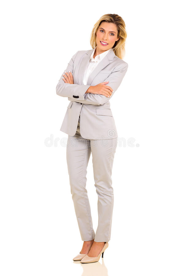 Junge Karrierefrau stockbild
