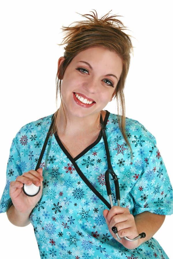 Junge-Krankenschwester stockbilder