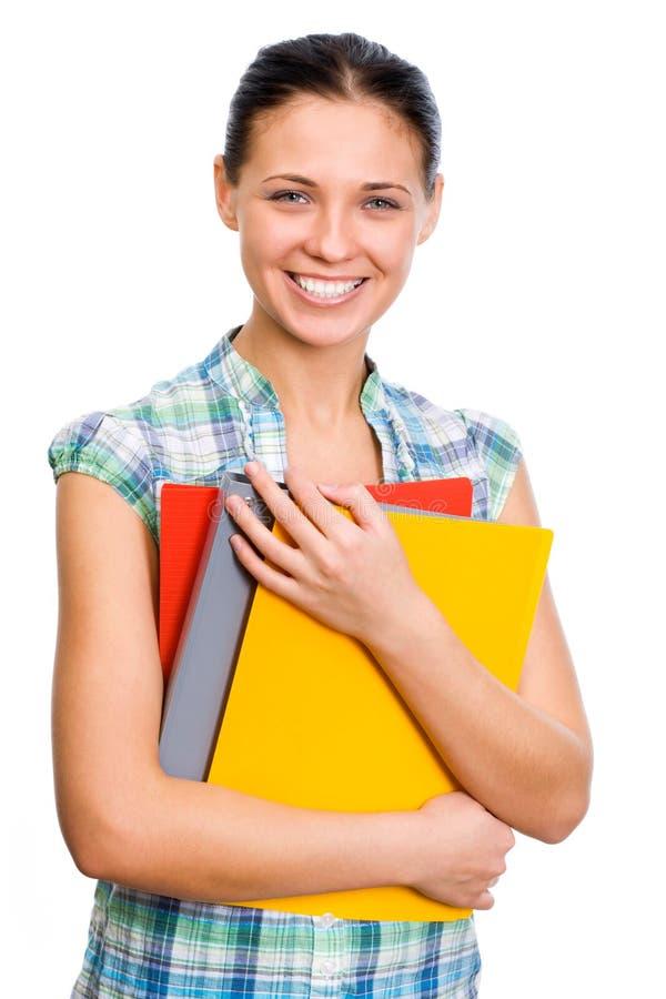 Junge Kursteilnehmerfrau. lizenzfreie stockbilder