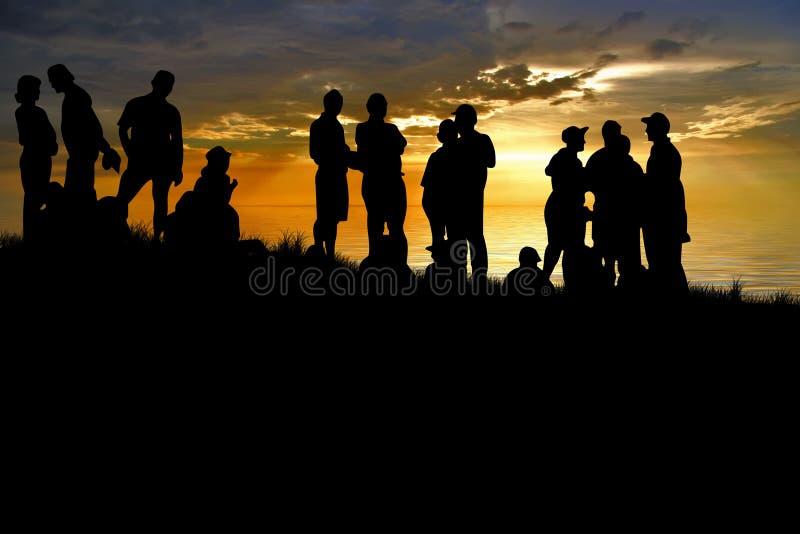 Junge Leute genießen im Park an lizenzfreie stockfotografie