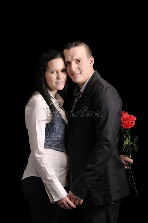 Junge liebevolle Paare lizenzfreie stockfotografie
