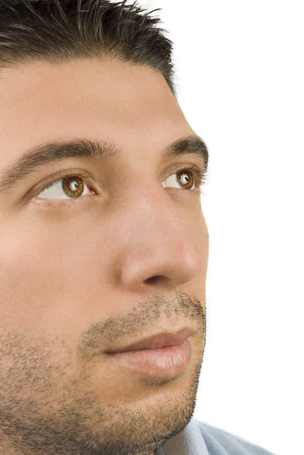 Junge männliche Augen lizenzfreie stockbilder
