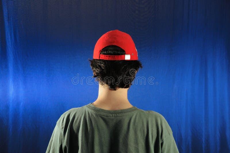 Junge Mannesrückseite stockfoto