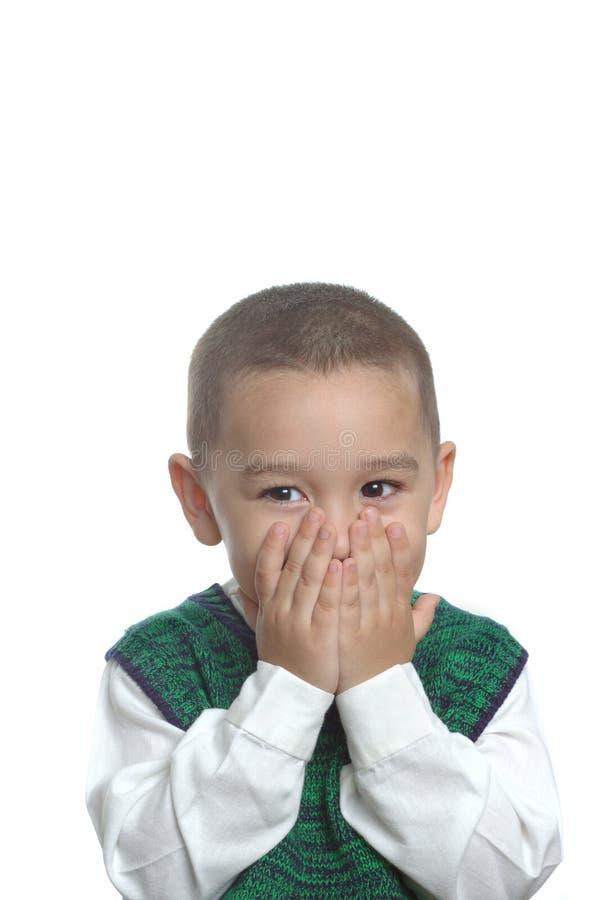 Junge mit überraschtem Ausdruck lizenzfreies stockfoto