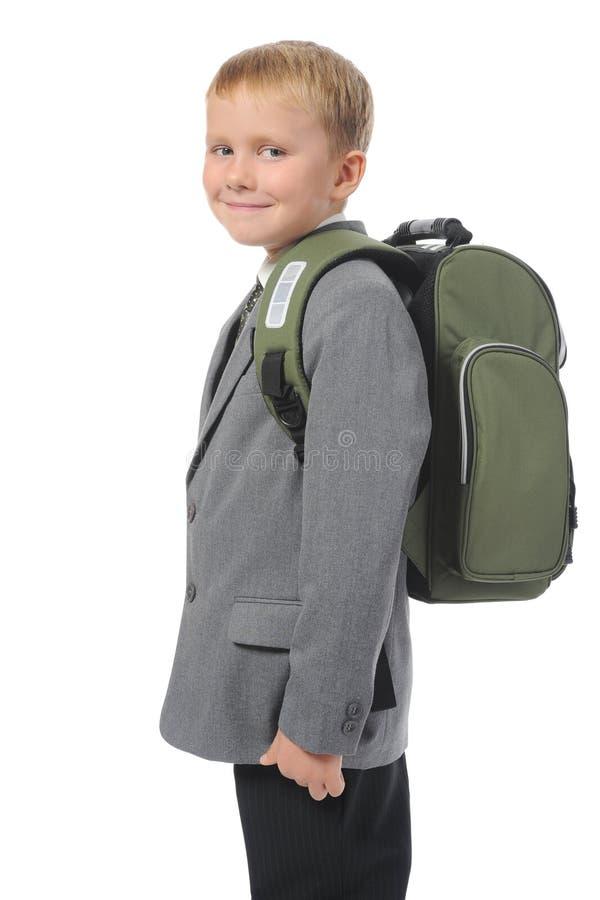 Junge mit einem Aktenkoffer stockfoto