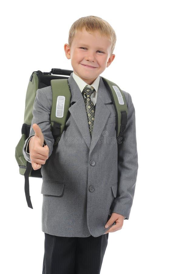 Junge mit einem Aktenkoffer stockfotos
