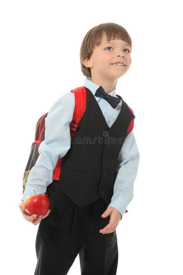 Junge mit einem Aktenkoffer stockbilder