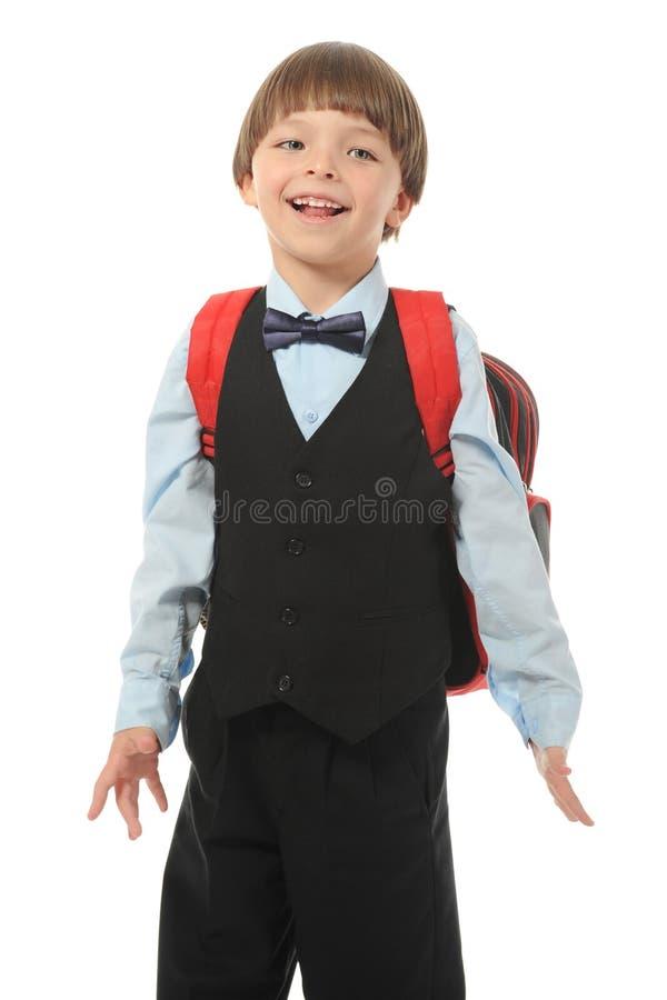 Junge mit einem Aktenkoffer lizenzfreie stockbilder