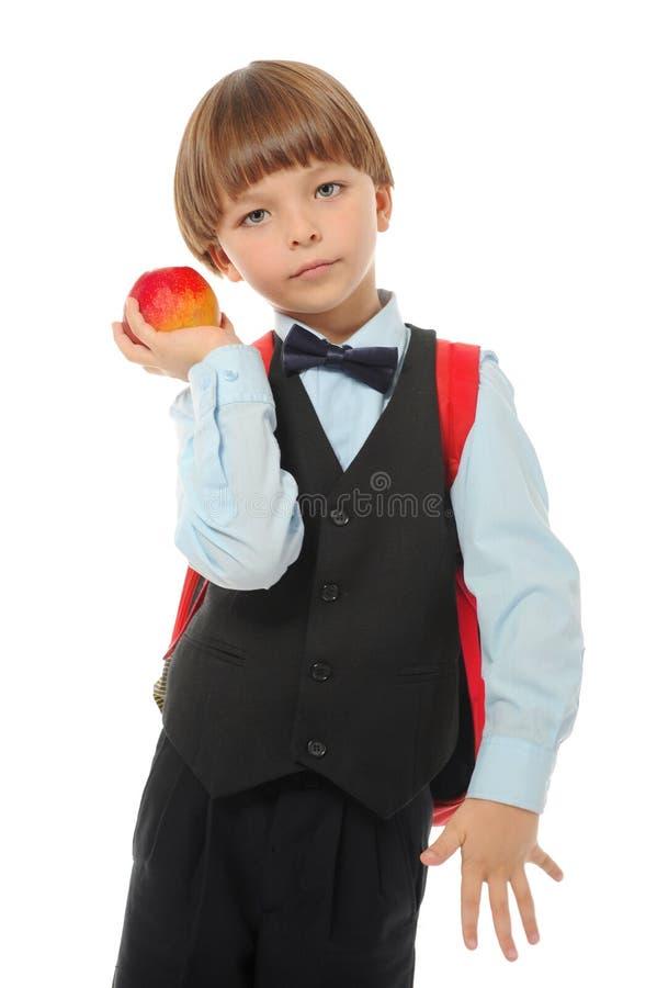 Junge mit einem Aktenkoffer lizenzfreies stockfoto