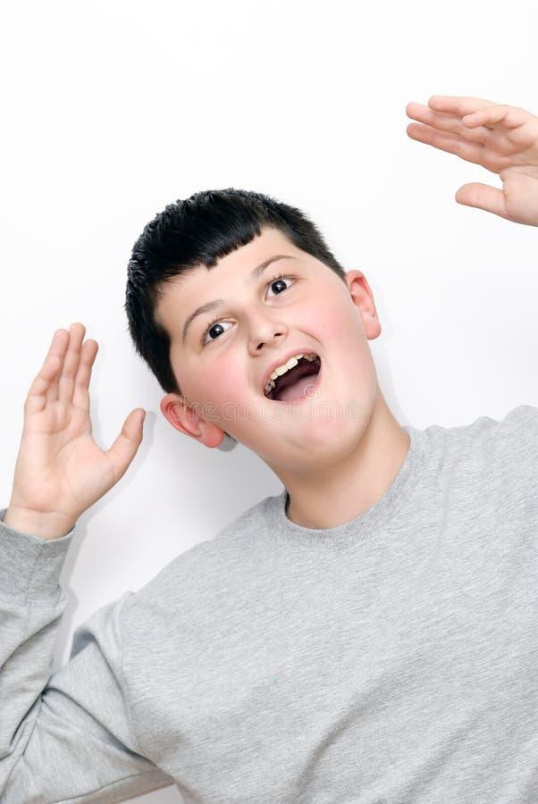 Junge mit einem Lächeln stockfotografie