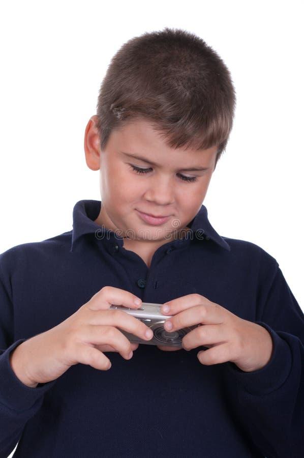 Junge mit einer Kamera stockfotos