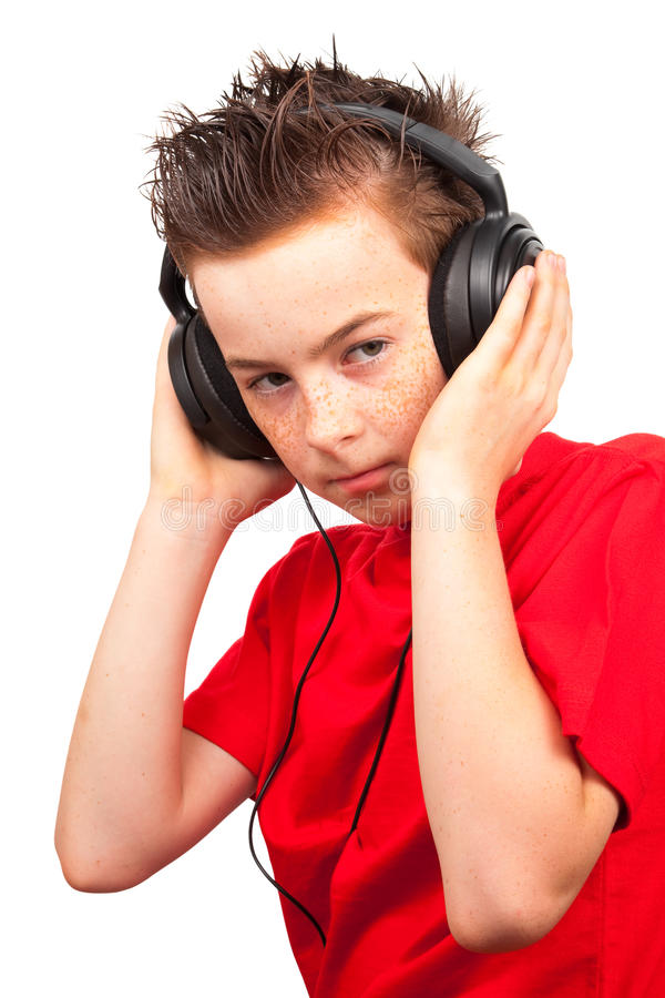 Junge mit Freckle stockfotografie