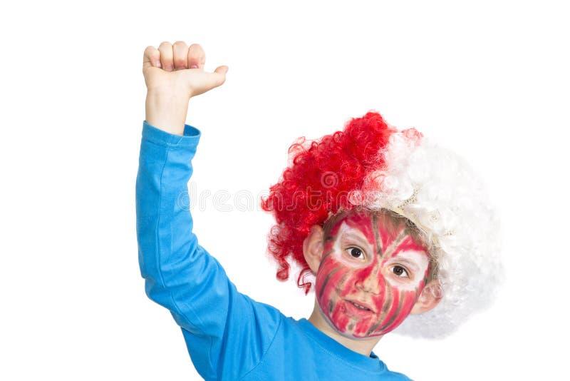 Junge mit gemaltem Gesicht lizenzfreie stockfotos