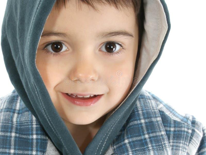 Junge mit mit Kapuze Jacke stockfotos