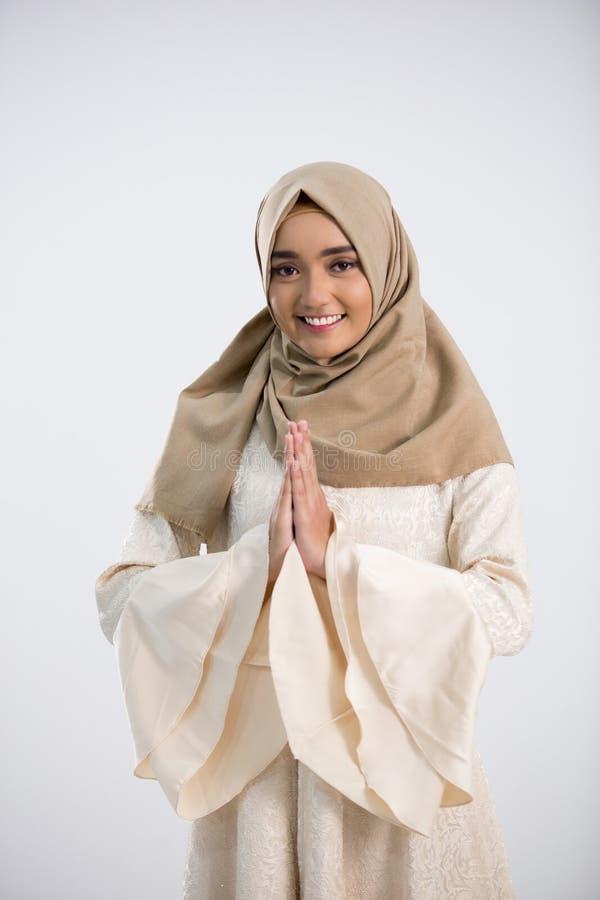 Junge moslemische Frau stockfoto