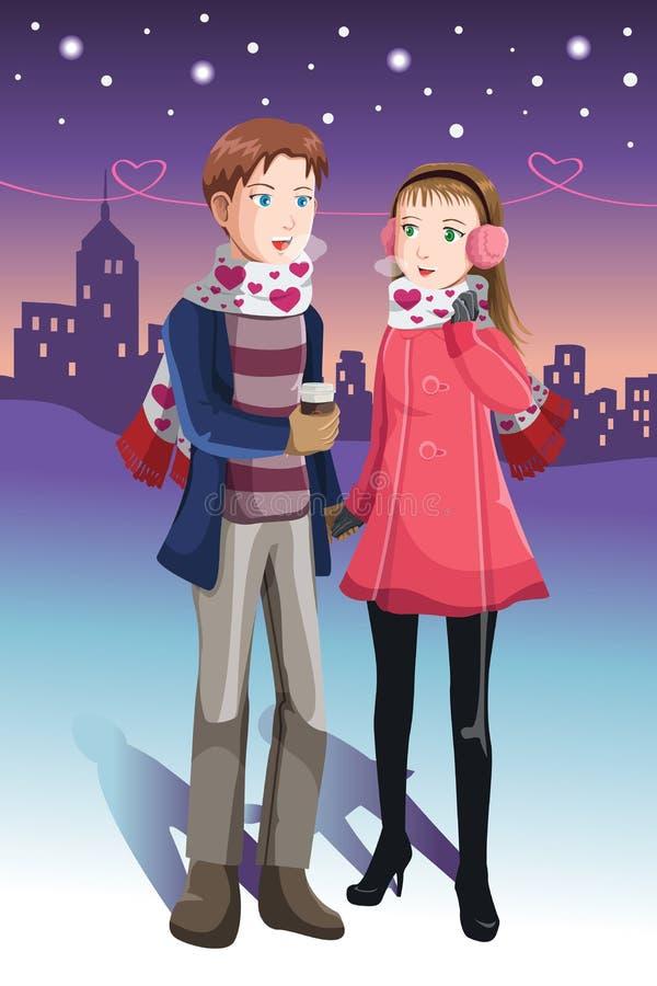 Junge Paare lizenzfreie abbildung