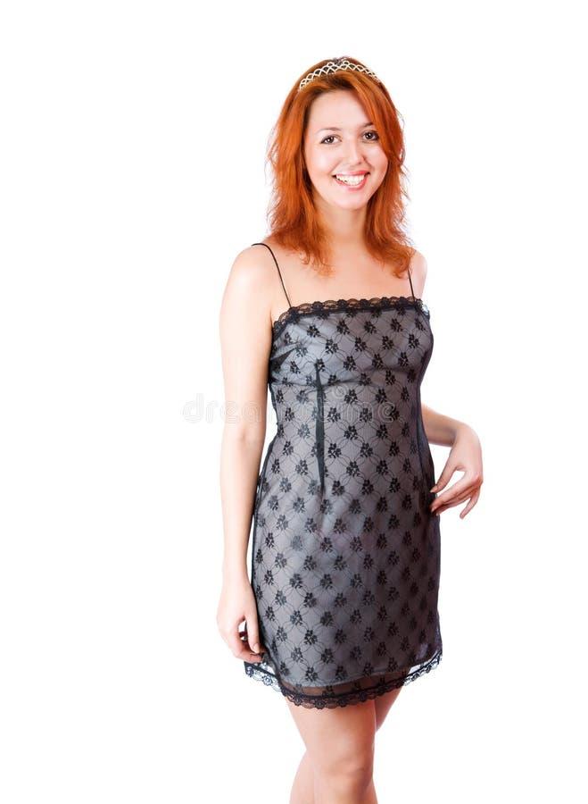 Junge Redheadfrau lizenzfreies stockbild