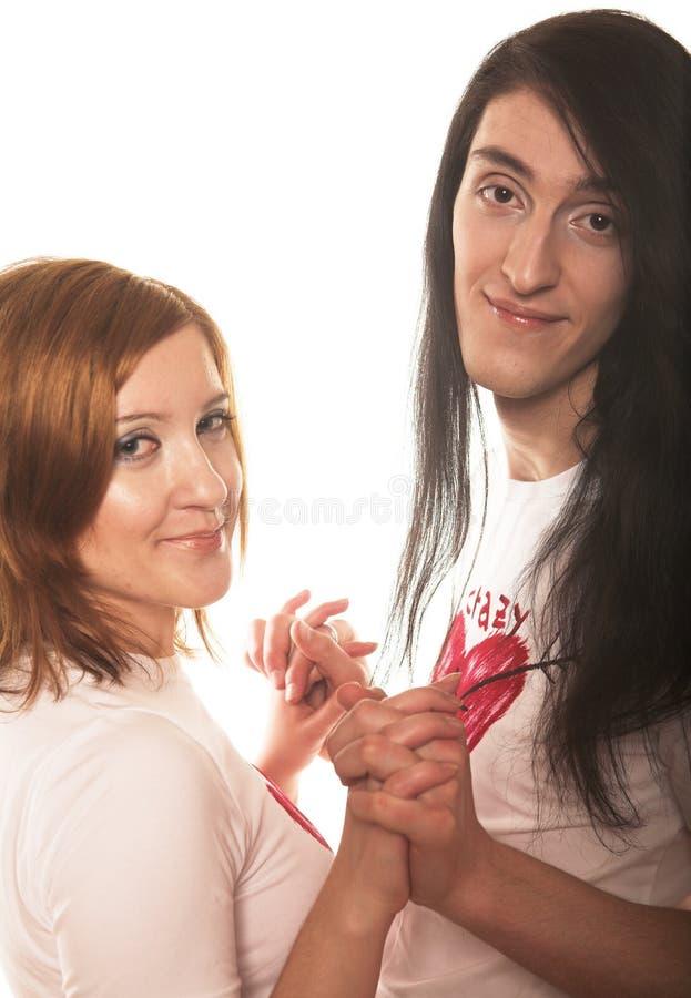 Junge romantische Paare lizenzfreies stockfoto