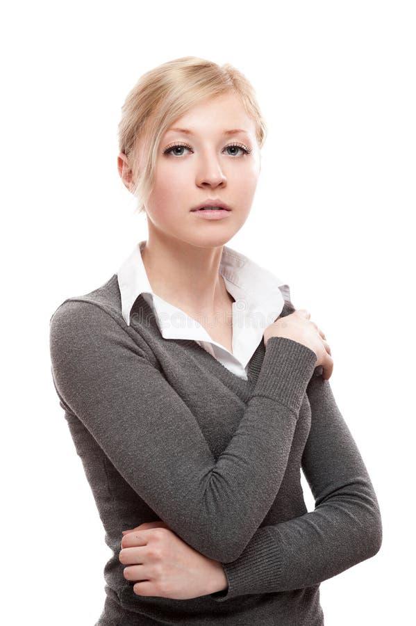 Junge ruhige Geschäftsfrau stockfoto