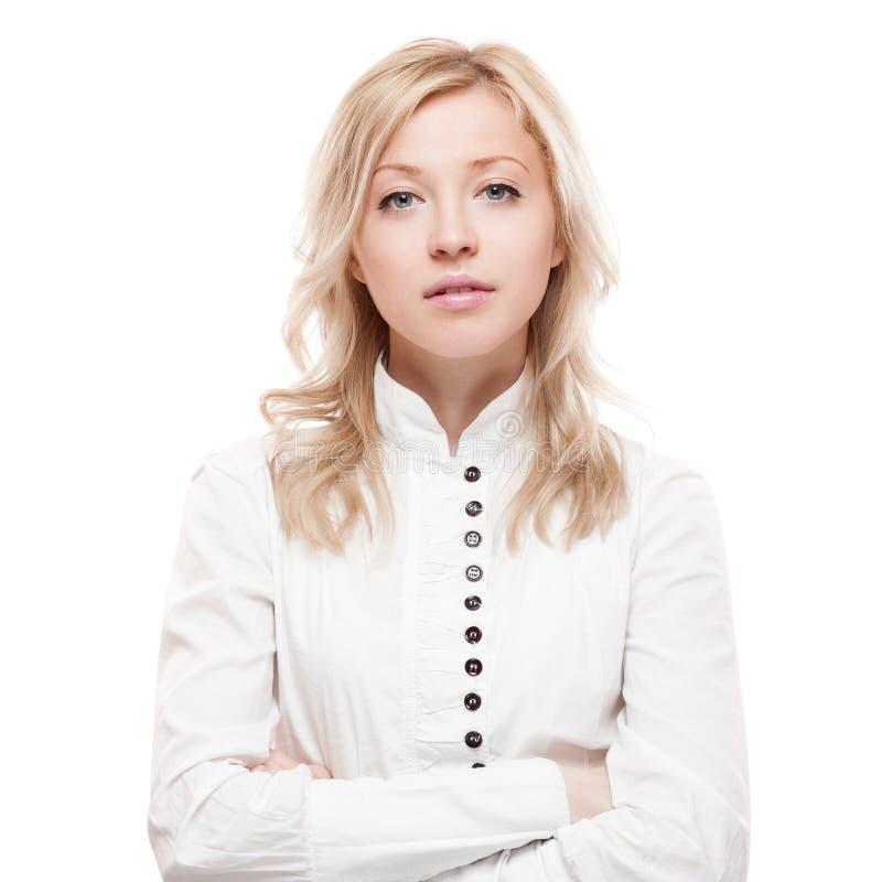 Junge ruhige Geschäftsfrau lizenzfreies stockfoto